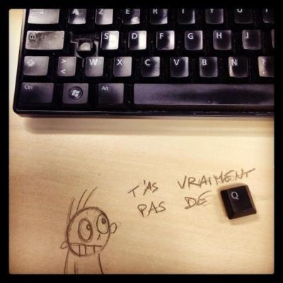 clavier humour dessin